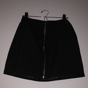 Zipper front skater skirt